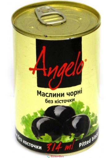 Оливки Angelo черные 314g