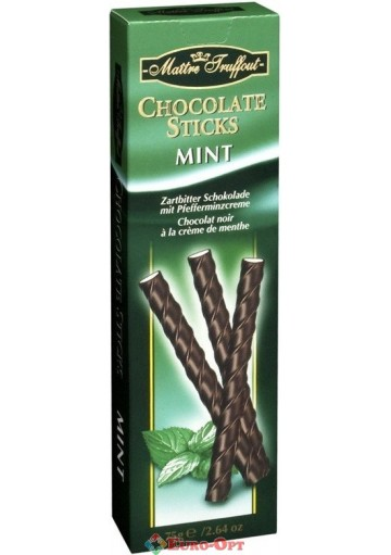 Maitre Truffout Chocolate Sticks Mint 75g