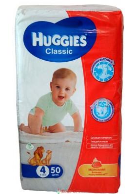 Huggies Classic 4 (7-18 кг) 50 шт.