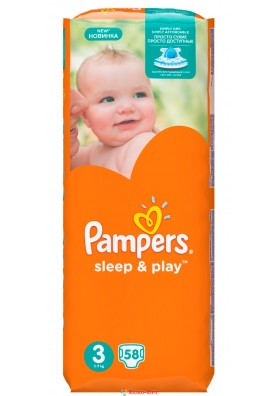 Pampers 3 Sleep & Play 5-9 кг 58 шт.