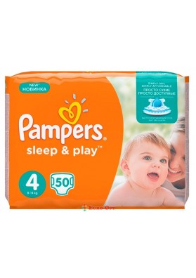 Pampers 4 Sleep & Play 8-14 кг 50 шт.