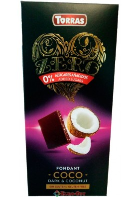 Torras Fondant Coco Dark & Coconut 125g
