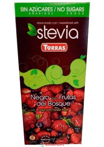 Torras Stevia Negro del Frutas Bosque 125g