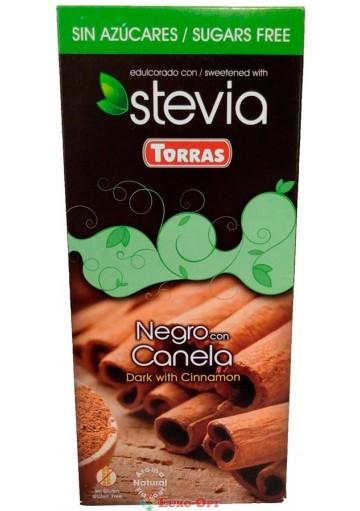 Torras Stevia Negro con Canela 125g