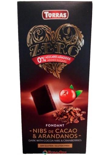 Torras Fondant Nibs de Cacao & Arandanos 125g