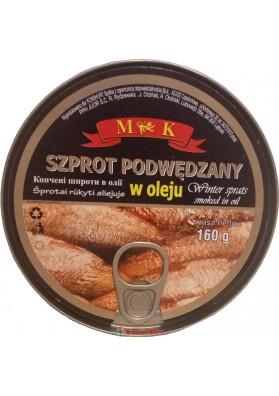 MK Szprot Podwedzany w Oleju 160g
