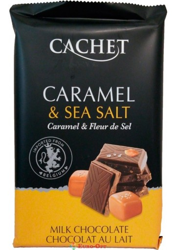 Cachet 32% Milk Chocolate Bar with Caramel & Sea Salt 300g