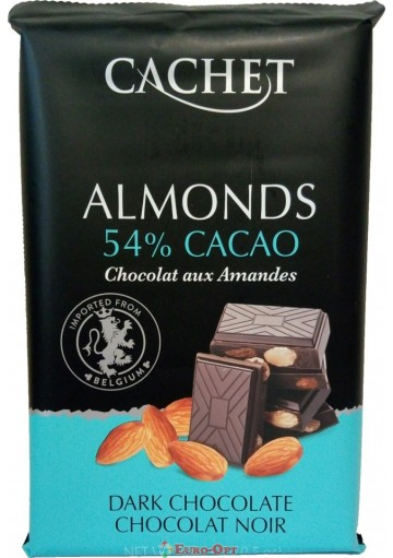 Cachet 53% Dark Chocolate with Almonds 300g