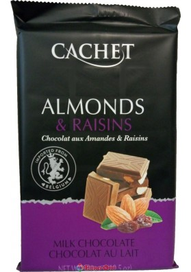Cachet 32% Milk Chocolate with Almonds & Raisins 300g