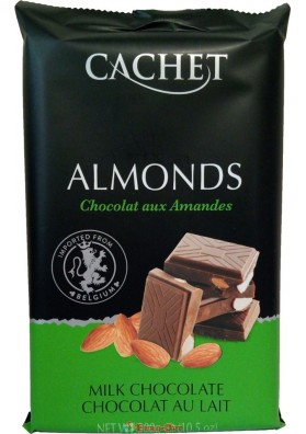 Cachet 32% Milk Chocolate with Almonds 300g