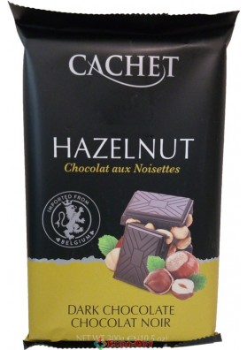 Cachet Dark Chocolate with Hazelnut 300g