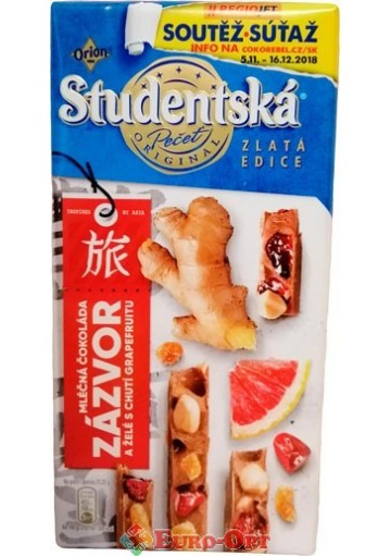 Studentska Pecet Zlata Edice Zazvor s Chuti Grapefruitu 170g.