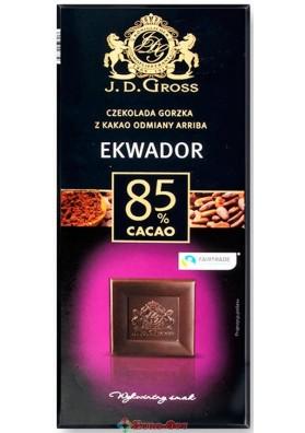 J.D. Gross 85% Cacao 125g.