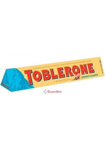Toblerone Crunchy Almonds (Тоблерон Хрустящий Миндаль) 100g