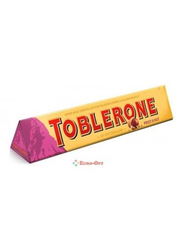 Toblerone Raisins & Almond Nougat (Тоблерон с Изюмом и Миндалем) 100g