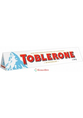 Toblerone White Chocolate Honey & Almond Nougat