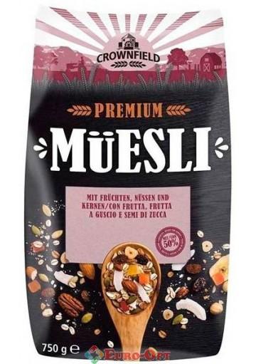 Muesli Crownfield (Мюсли Кровнфилд с Орехами и Фруктами) 750g.