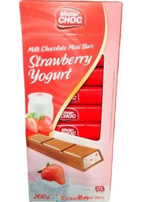 Mister Choc Strawberry Yogurt (Мистер Чок Йогурт с Клубникой) 200g.