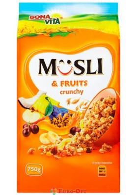 Musli Bona Vita Fruits Crunchy (Мюсли Бона Вита с Фруктами) 750g.