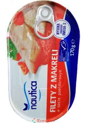 Filety z Makreli w Sosie Pomidorowym (Филе Скумбрии в Томатном Соусе) 170g.