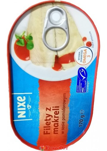 Nixe Filety Makreli (Найкс Филе Скумбрии) 170g.