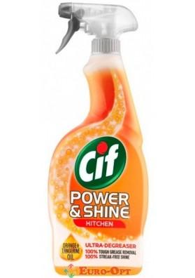 Cif Power & Shine Kitchen Spray (Средство для чистки кухни Сиф с Маслом Апельсина и Мандарина) 700ml.