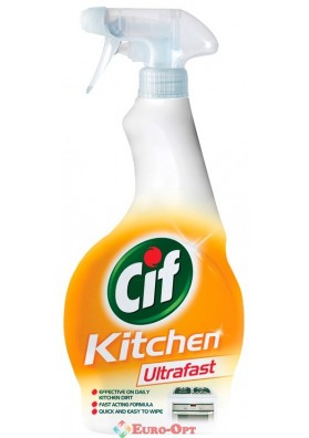 Cif Ultrafast Kitchen Spray (Средство для чистки кухни Сиф Ультрафаст Спрей) 450ml.
