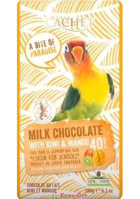 Cachet Milk Chocolate with Kiwi & Mango (Кашет с Киви и Манго) 180g.