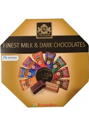 J. D. Gross Finest Milk & Dark Chocolates 200g.