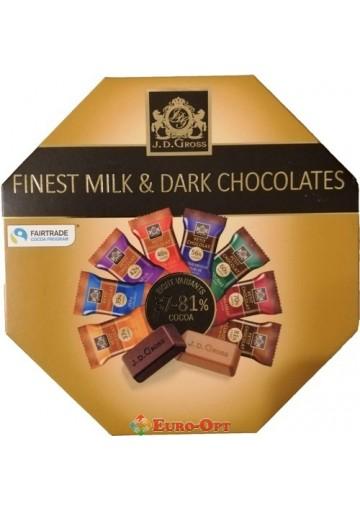 J. D. Gross Finest Milk & Dark Chocolates 200g.