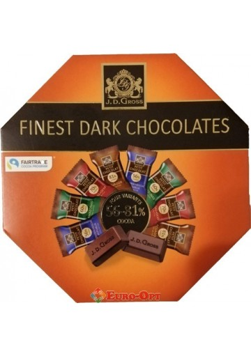 J. D. Gross Finest Dark Chocolates 200g.