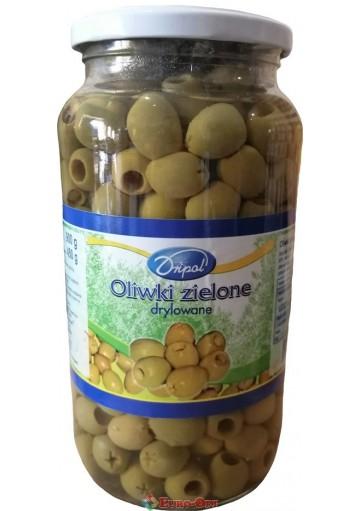 Оливки Dripol Oliwki Zielone (Дрипoл Зеленые Без Косточки) 900g.