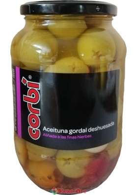 Оливки Гиганты Corbi Aceituna Gordal Deshuesada 835g.