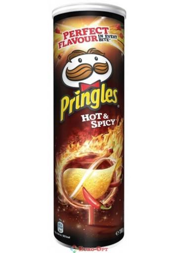 Чипсы Pringles Hot & Spicy (Принглс с Паприкой Чили) 165g.