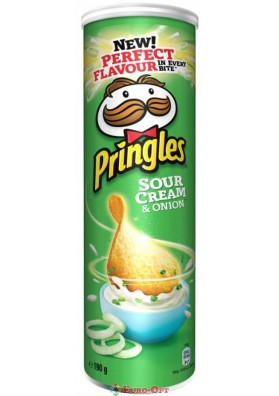 Чипсы Pringles Sour Cream & Onion (Принглс Сметана и Лук) 165g.