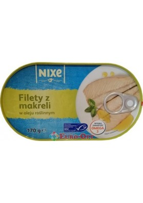 Nixe Filety z Makreli (Филе Скумбрии в Масле) 170g.