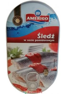 Amerigo Sledz w Sosie Pomidorowym (Сельдь в Томатном Соусе) 170g.