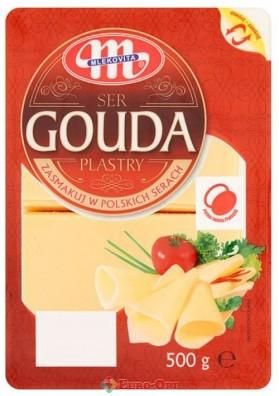 Сыр Mlekovita Ser Gouda Plastry (Гауда Нарезка) 500g.