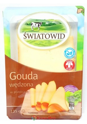 Сыр Swiatowid Gouda Wedzona (Гауда Копченый Сыр) 135g.