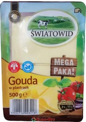 Сыр Swiatowid Gouda (Гауда Нарезка) 500g.