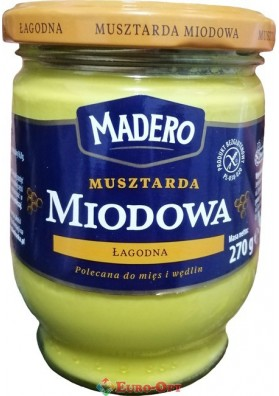 Медовая Горчица Madero Musztarda Miodowa 270g.