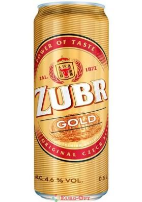 Пиво Zubr Gold (Зубр Голд) 0.5l.