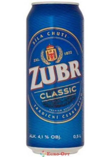 Пиво Zubr Classic (Зубр Классик) 0.5l.