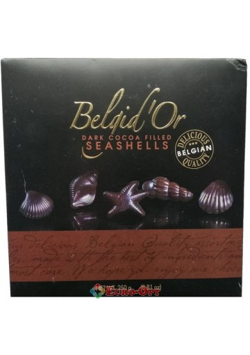 Конфеты Belgid'Or Dark Cocoa Filled Seashells 250g.
