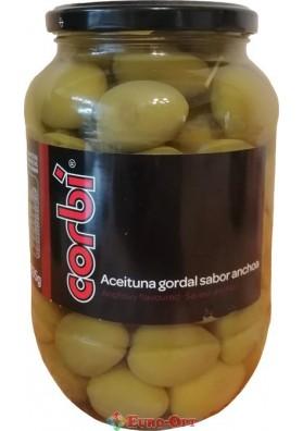 Оливки Гіганти Corbi Aceituna Gordal Sabor Anchoa 835g.