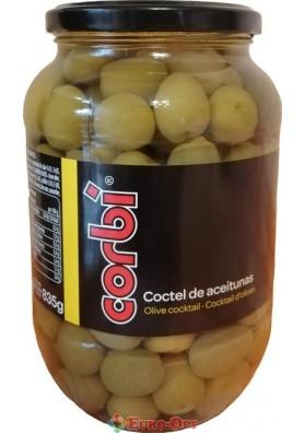 Оливки Corbi Coctel De Aceitunas (з огірком і Цибулею) 835g.