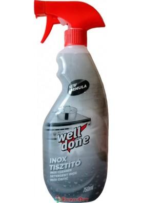 Очищувач для Поверхонь з Нержавіючої Сталі Well Done Inox Tisztito 750ml.