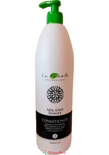 Кондиціонер La Fabelo Milano Beauty Сoffein & UV Filter (Кофеїн і УФ-фільтр) 1000ml.