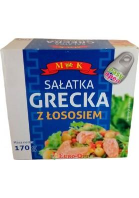 Лосось с Греческим Салатом MK Salatka Grecka z Lososiem 170g.