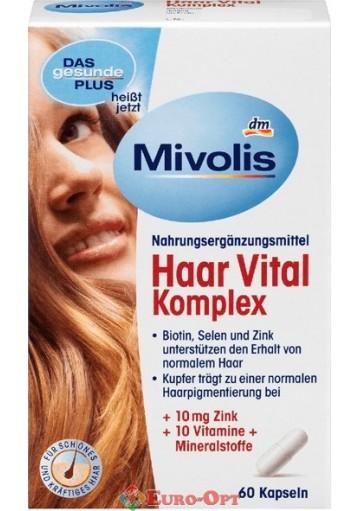 Витаминны для волос Mivolis Haar Vital komplex 60 caps
